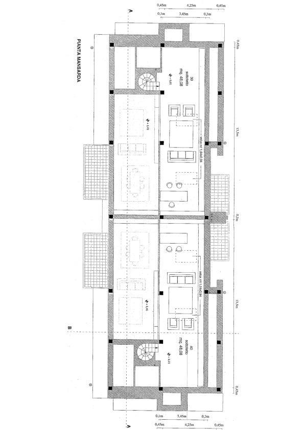 Planimetria 2/5 per rif. 7520/BC
