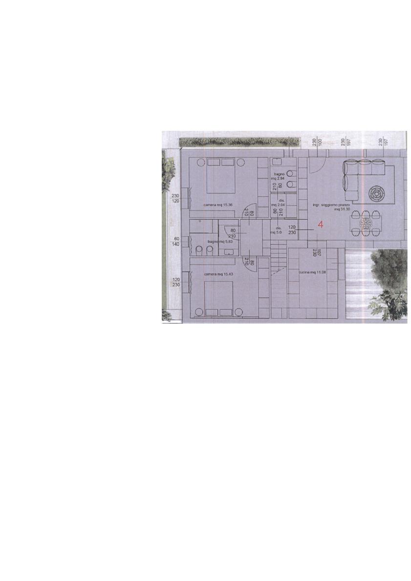 Planimetria 1/3 per rif. 7522/BC