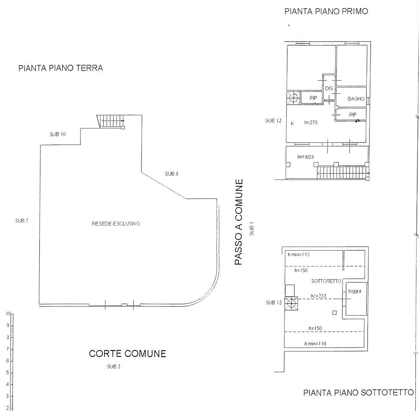 Planimetria 1/1 per rif. 7597/MD