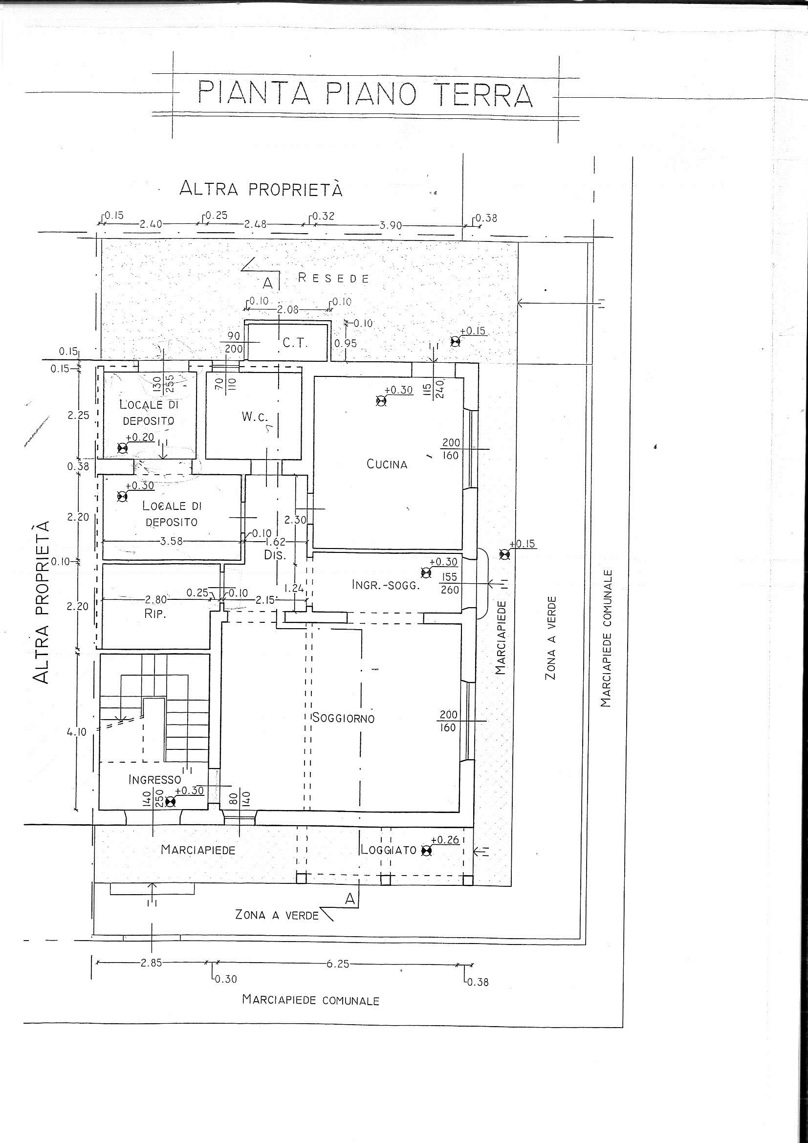 Planimetria 1/2 per rif. 7614/B