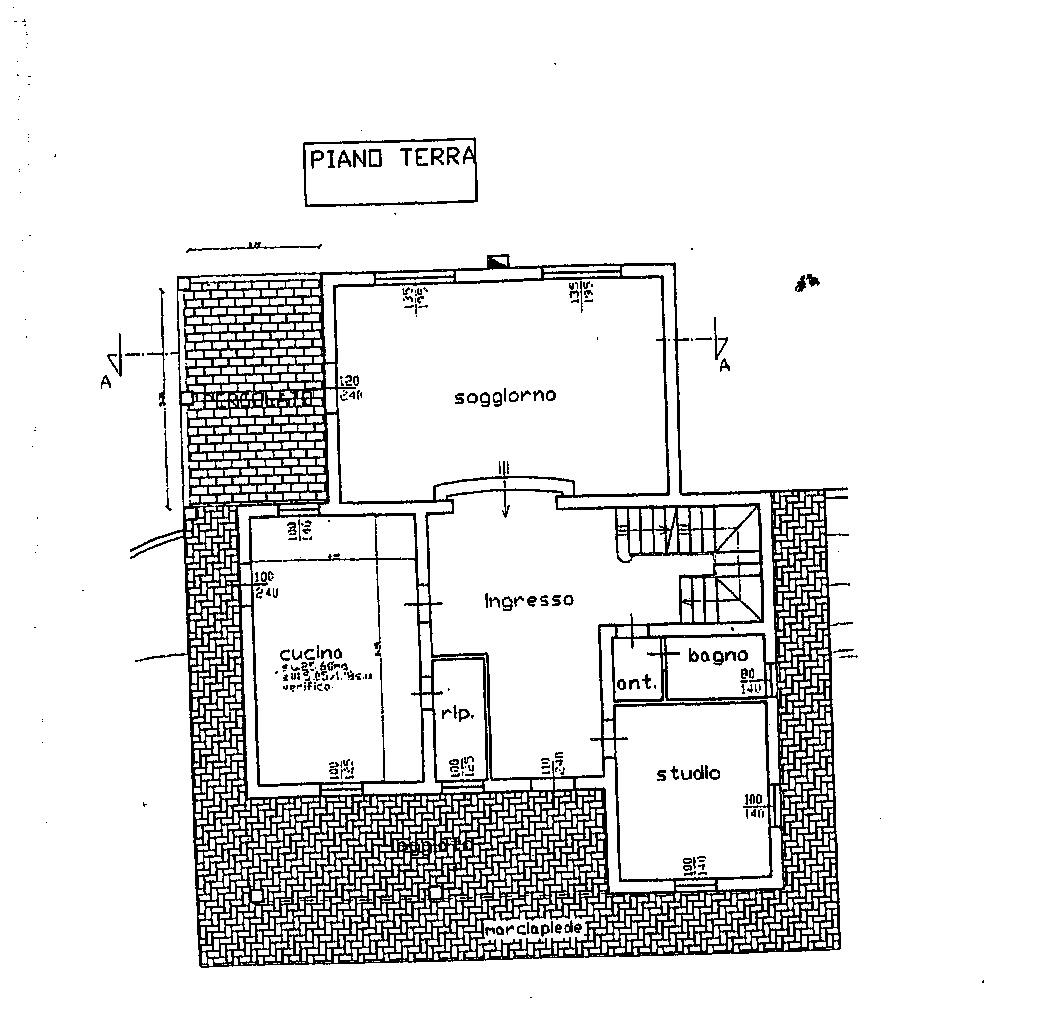 Planimetria 1/3 per rif. 7626/CAD