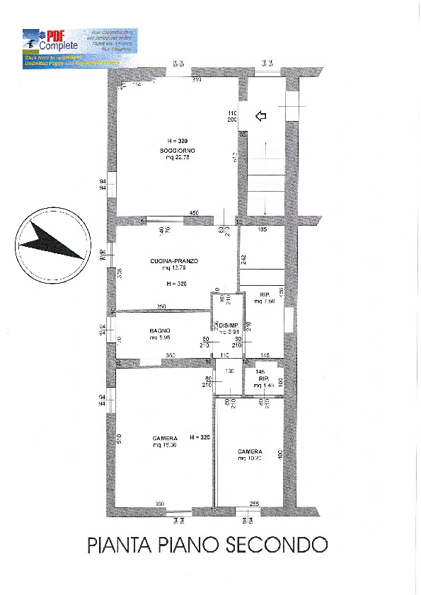 Planimetria 2/2 per rif. 7665/BD
