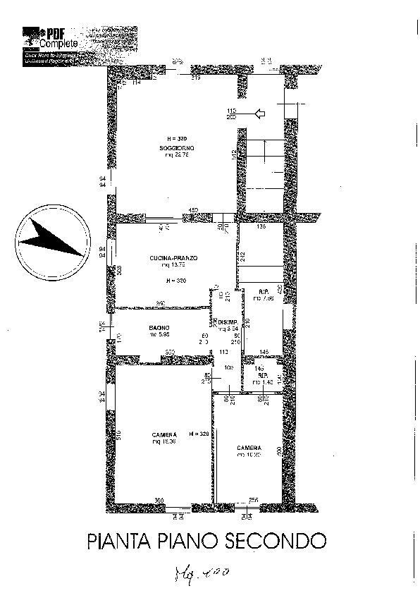 Planimetria 1/2 per rif. 7665/BD