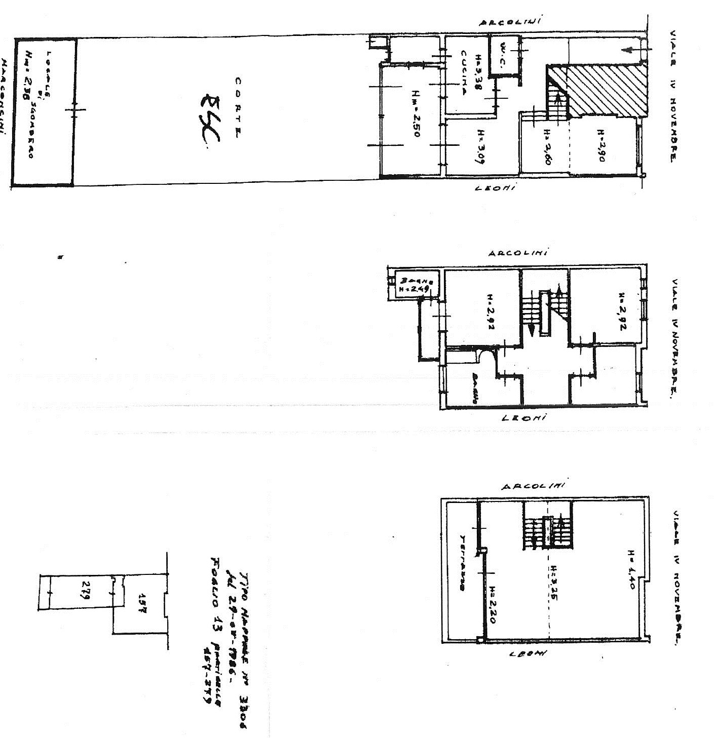 Planimetria 1/2 per rif. 7691/GD
