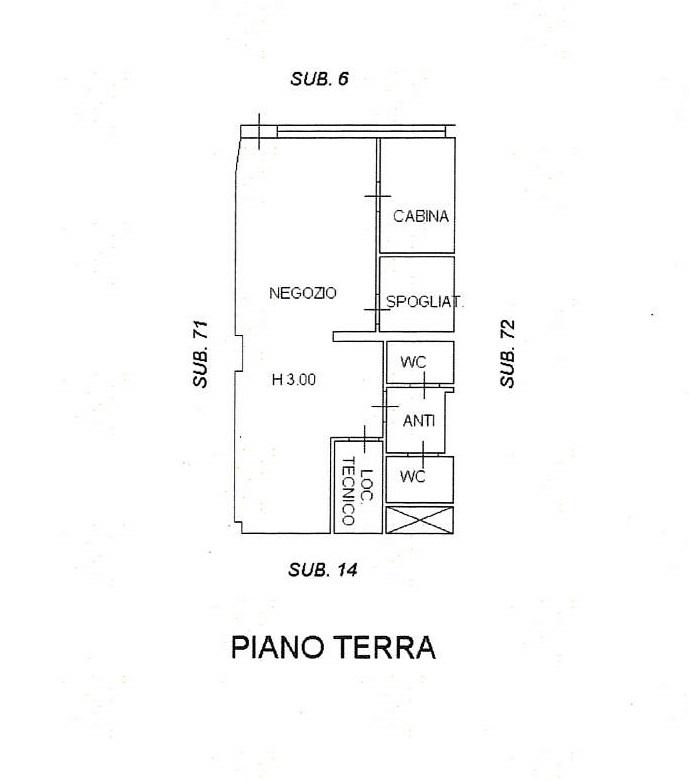Planimetria 1/1 per rif. 7694/GD