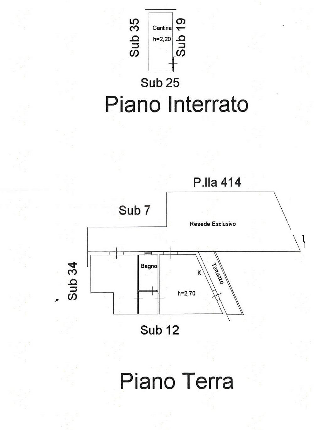 Planimetria 1/1 per rif. 7705/G