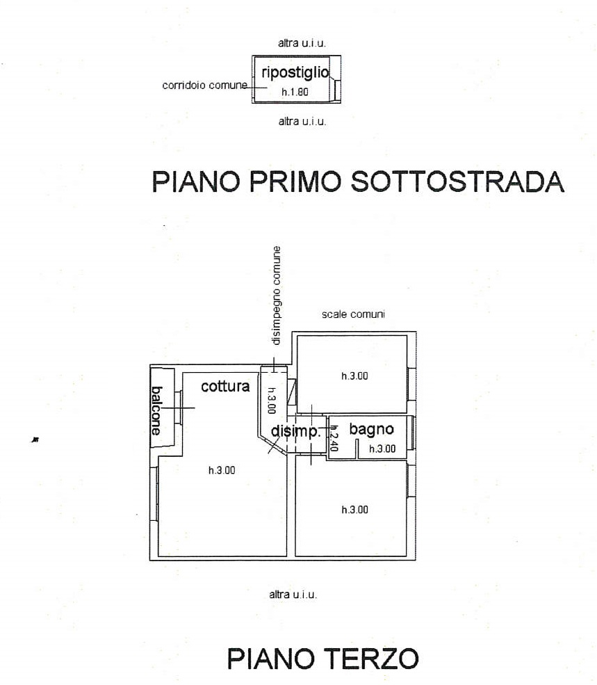 Planimetria 1/1 per rif. 7706/G