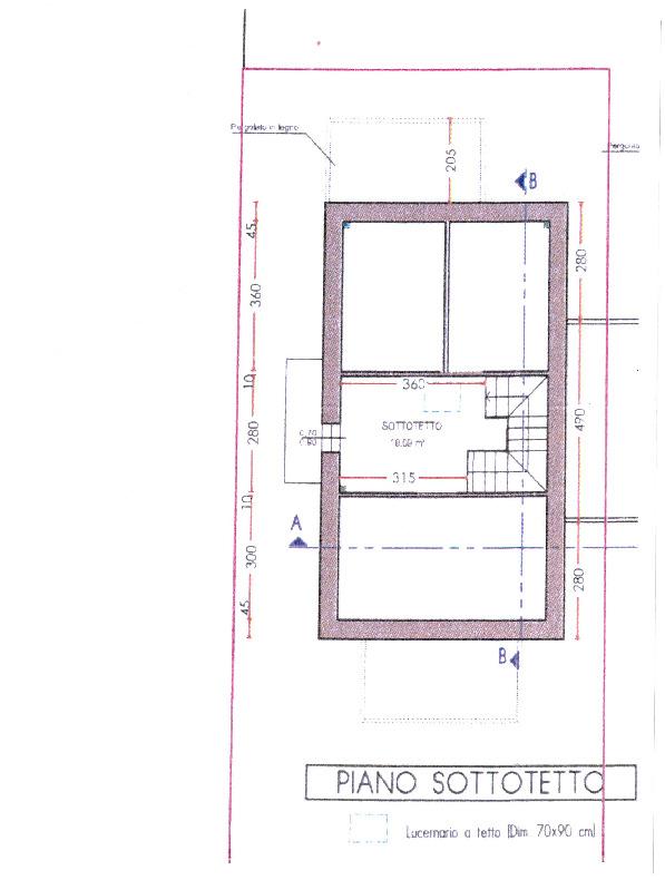 Planimetria 3/3 per rif. 7793/BD