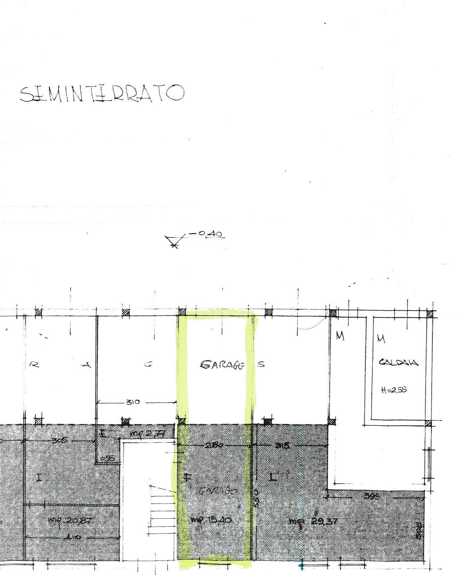 Planimetria 2/2 per rif. 7802/BD