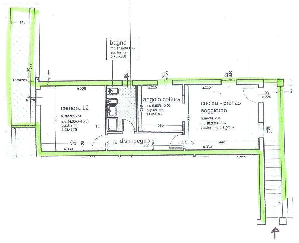 Planimetria 1/1 per rif. 7807/GD