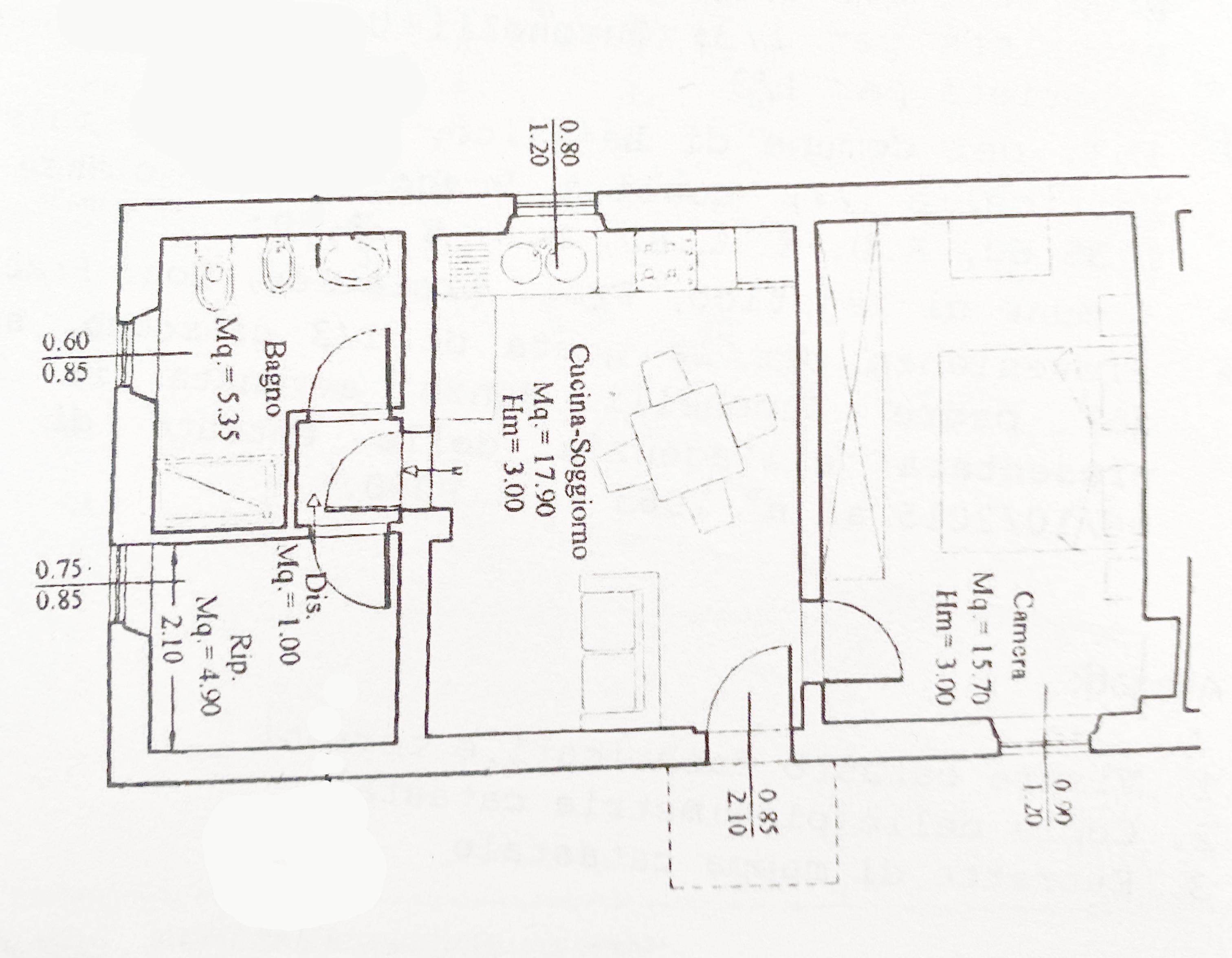 Planimetria 1/2 per rif. 1149D