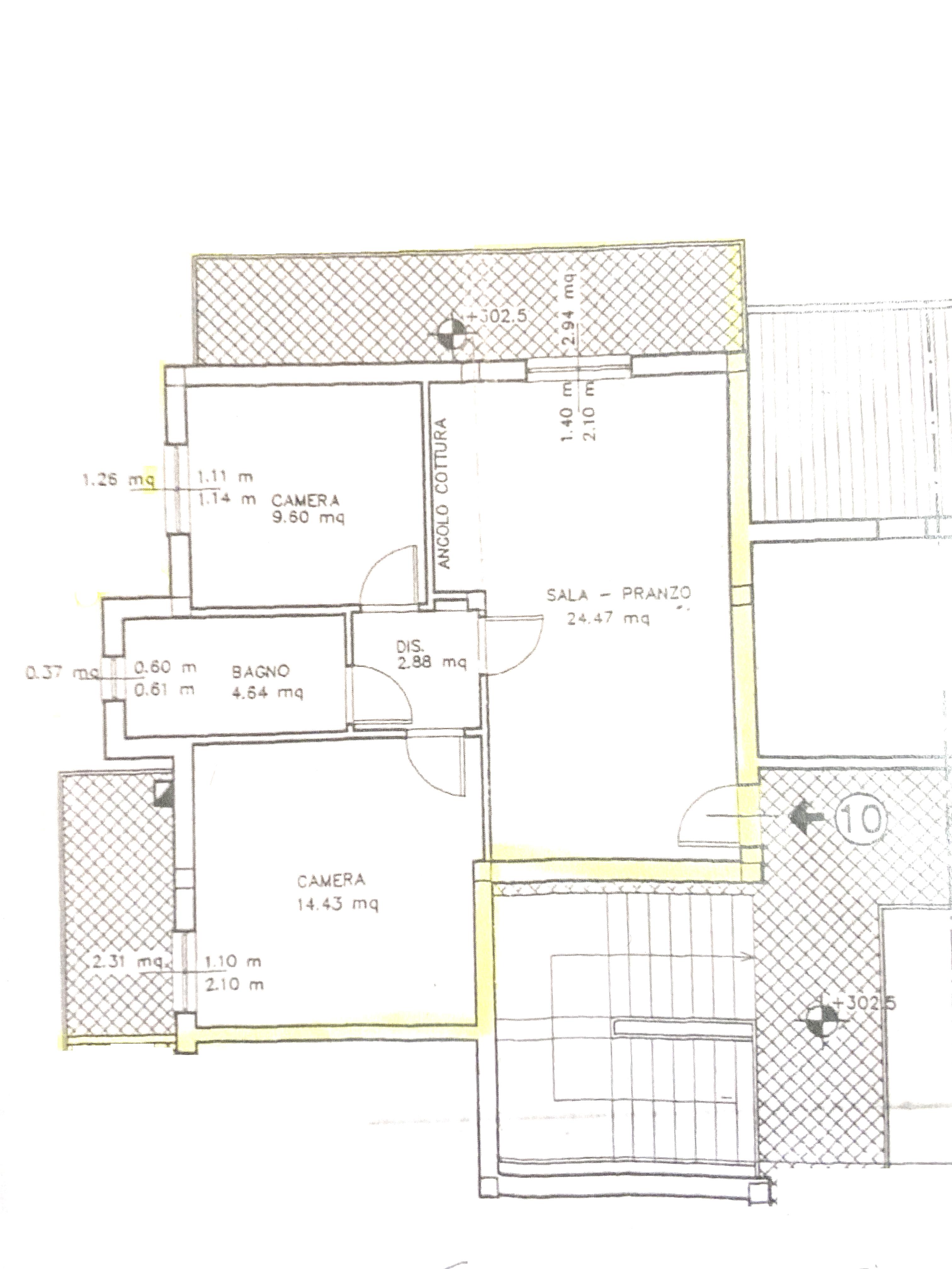 Planimetria 1/1 per rif. 1018D