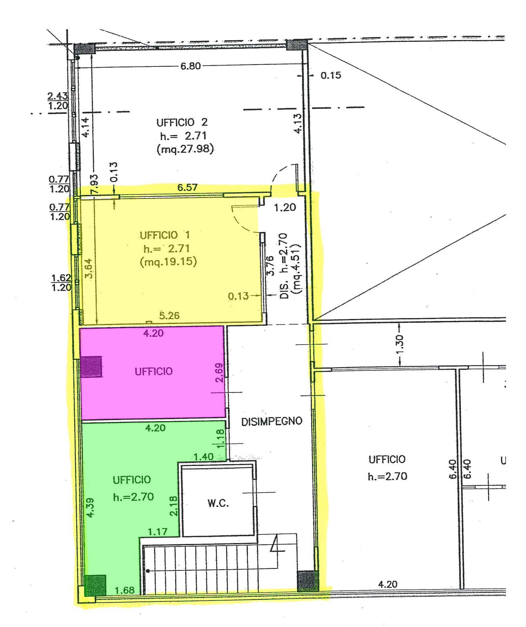 Planimetria 2/2 per rif. 350D