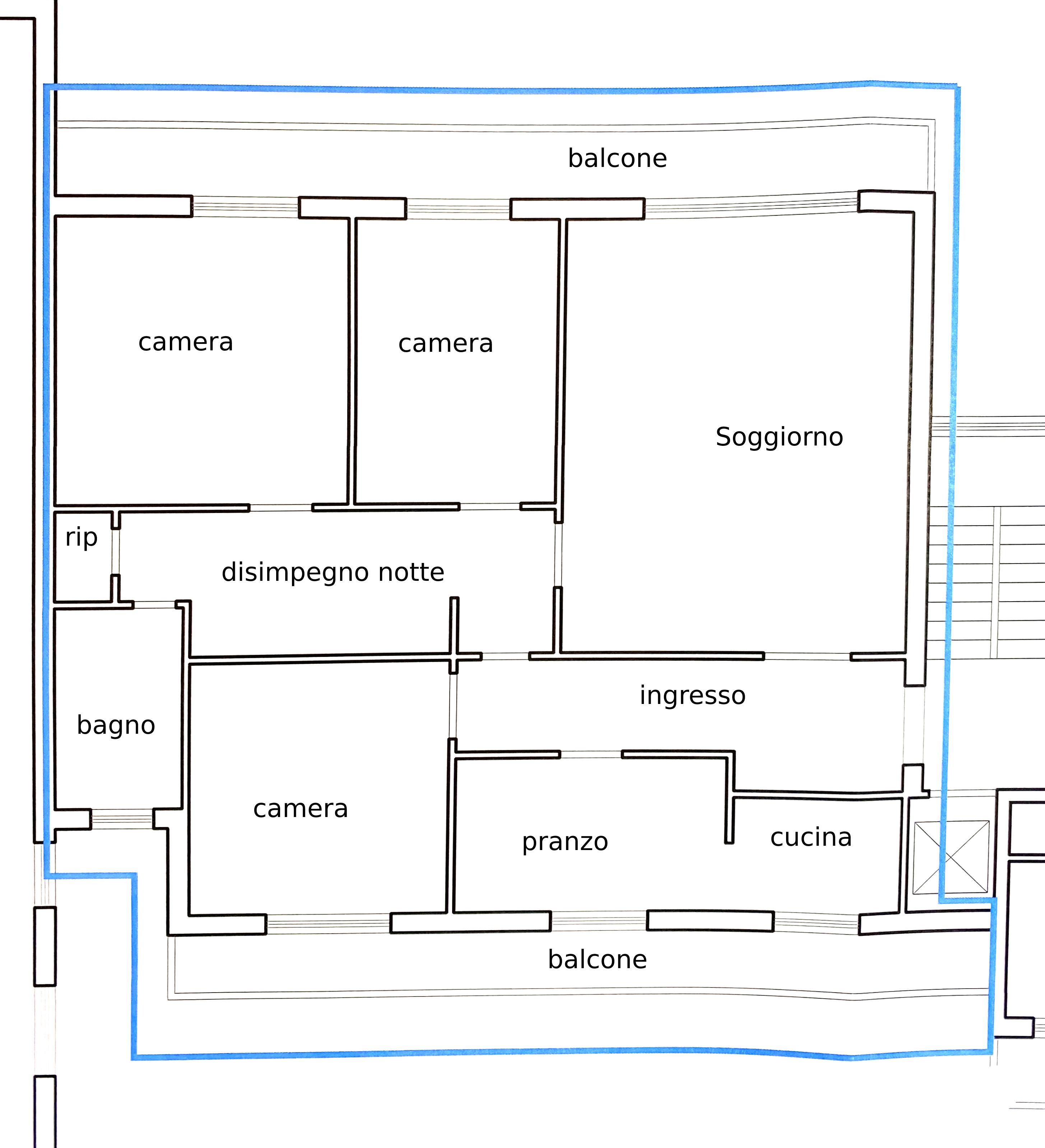 Planimetria 1/1 per rif. 1116D