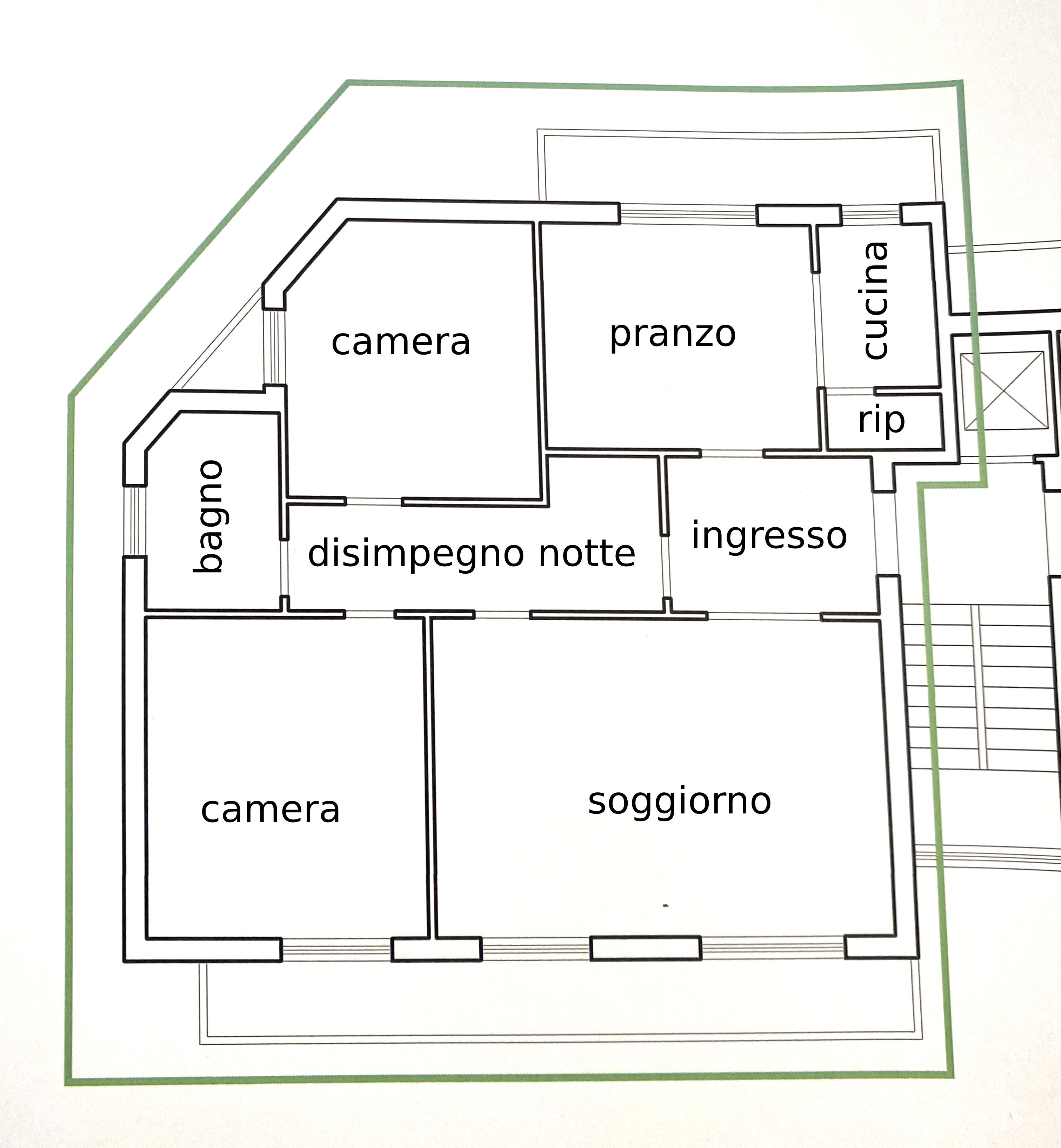 Planimetria 1/1 per rif. 1117D