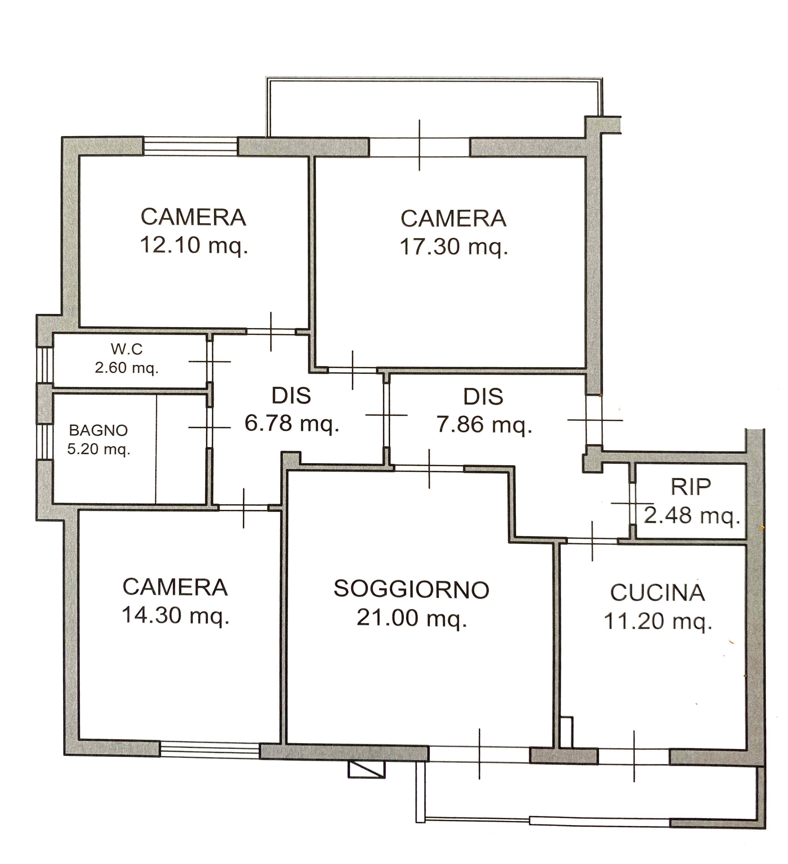 Planimetria 1/1 per rif. 1130D