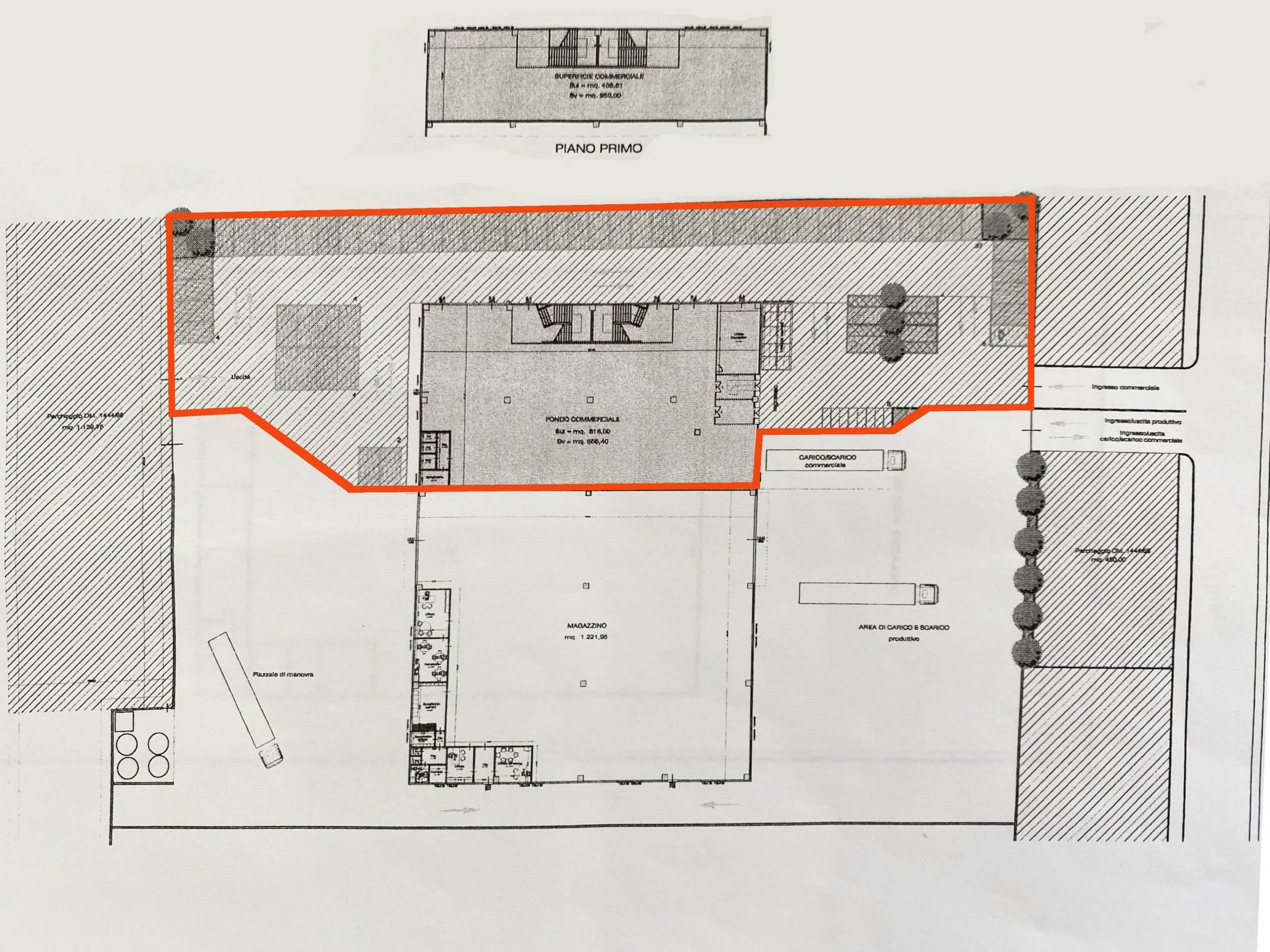 Planimetria 1/1 per rif. 5010D
