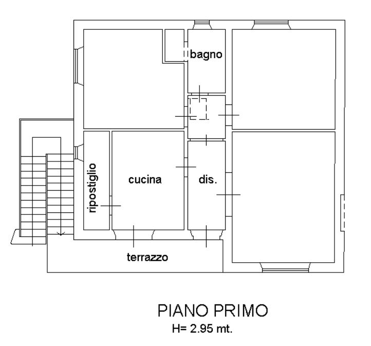 Planimetria 1/1 per rif. 158CC