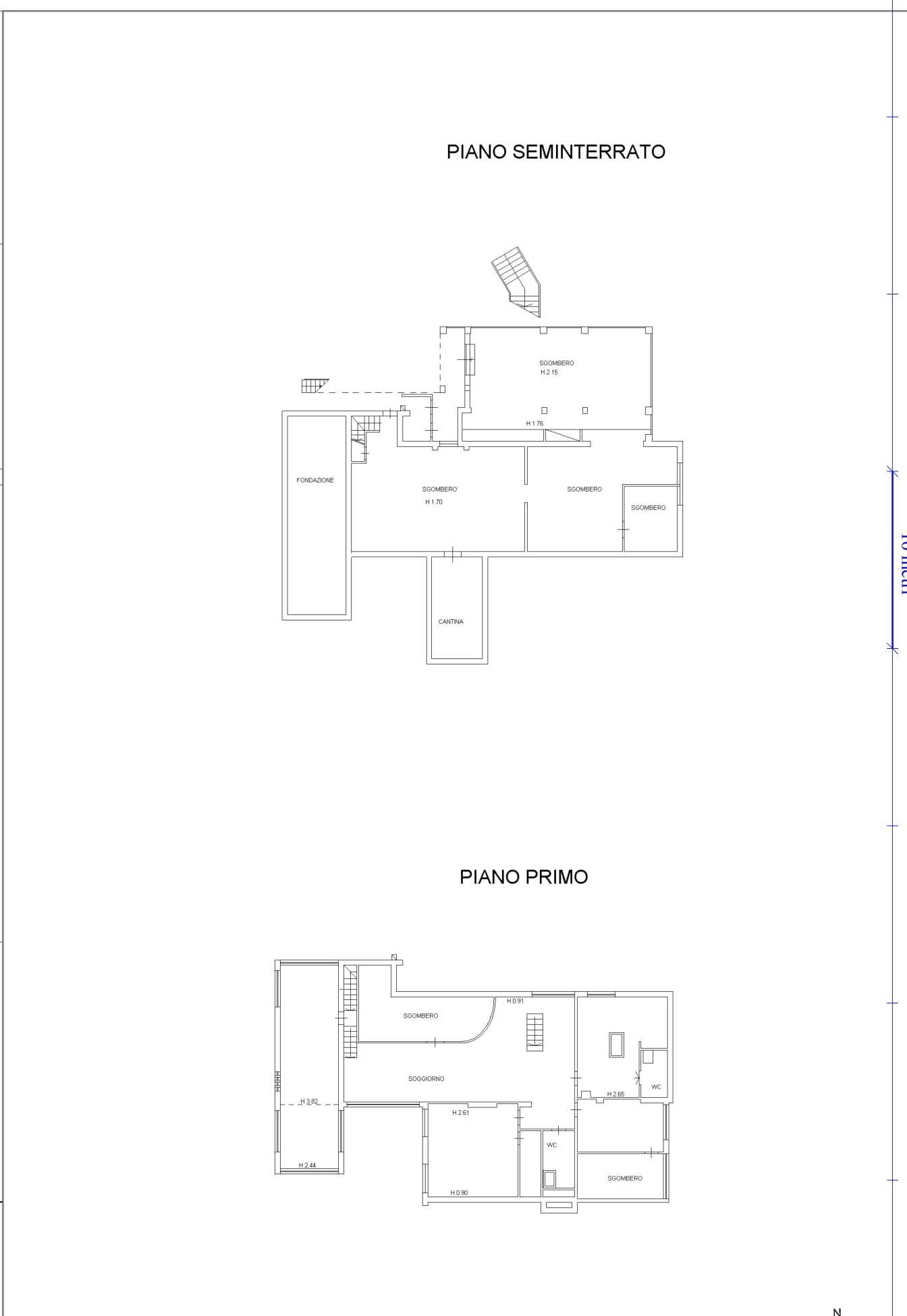 Planimetria 2/2 per rif. 117