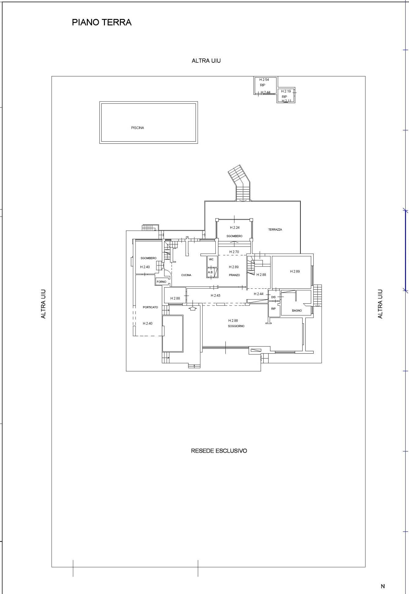 Planimetria 1/2 per rif. 117