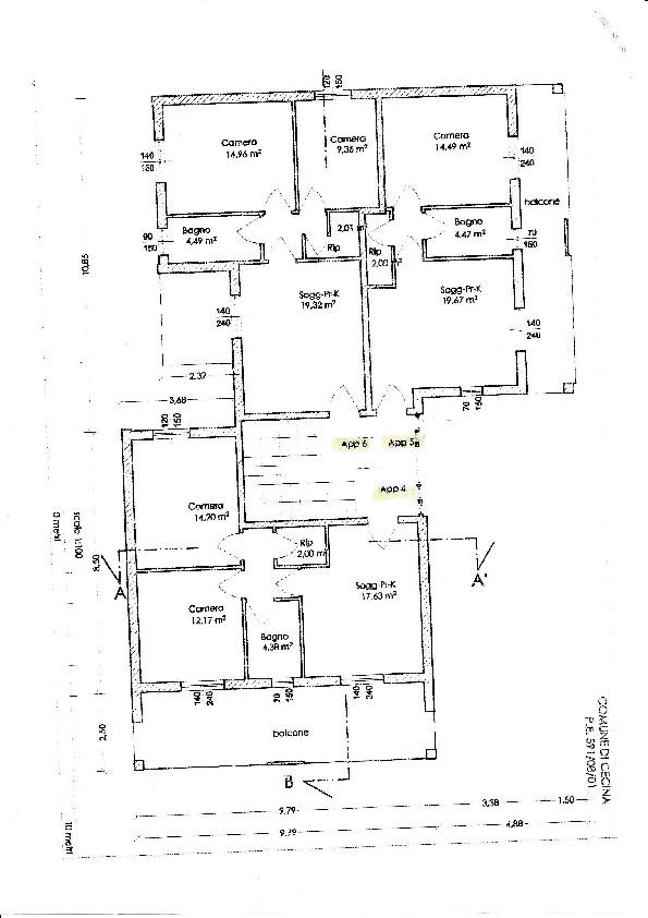 Casa semindipendente in vendita, rif. CD/01 (Planimetria 1/3)