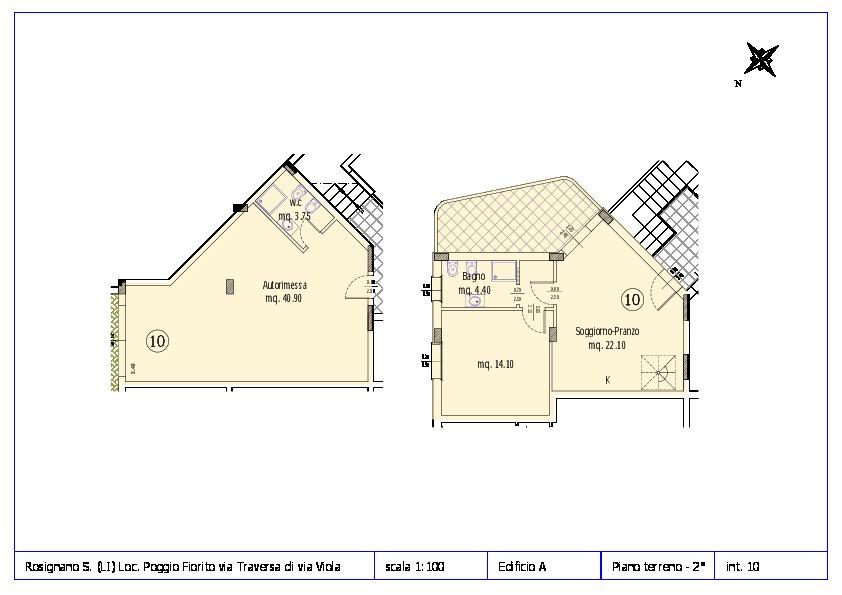 Appartamento in vendita, rif. ROS/12 (Planimetria 10/12)
