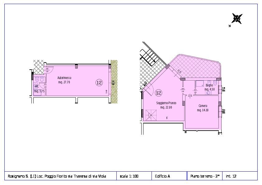 Appartamento in vendita, rif. ROS/12 (Planimetria 12/12)
