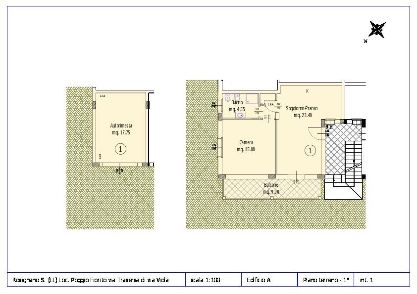 Appartamento in vendita, rif. ROS/12 (Planimetria 1/12)
