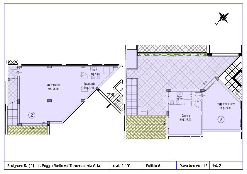 Appartamento in vendita, rif. ROS/12 (Planimetria 2/12)