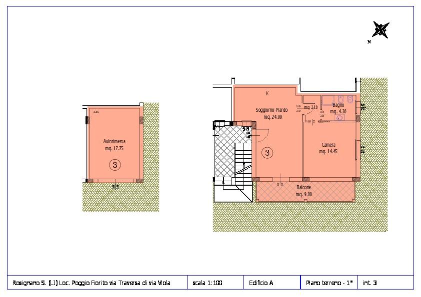 Appartamento in vendita, rif. ROS/12 (Planimetria 3/12)