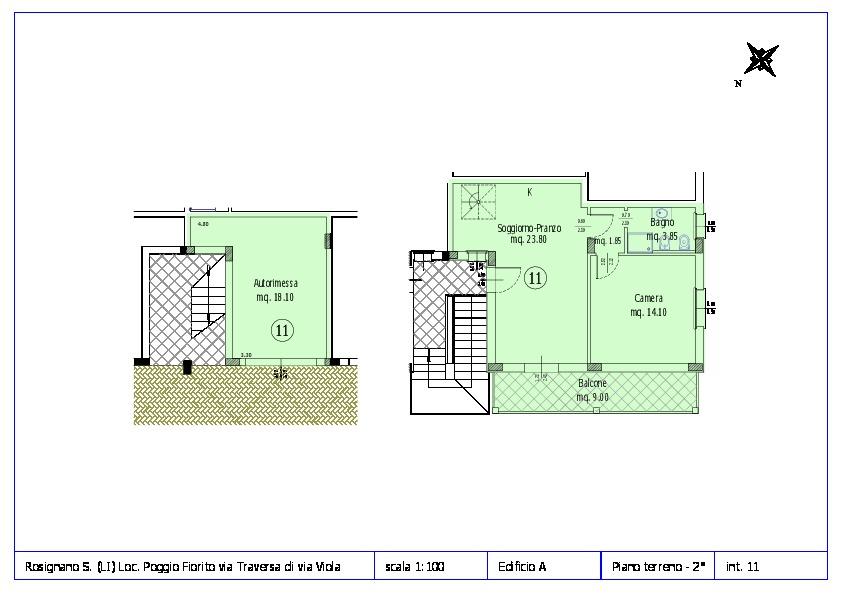 Appartamento in vendita, rif. ROS/12 (Planimetria 11/12)