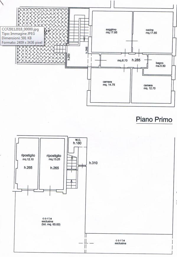 Appartamento in vendita, rif. SPC/12 (Planimetria 1/1)