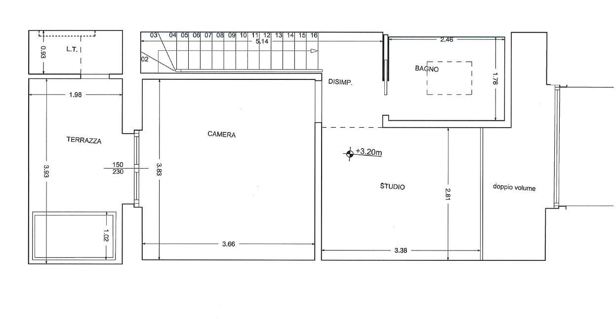 Planimetria 2/2 per rif. P381