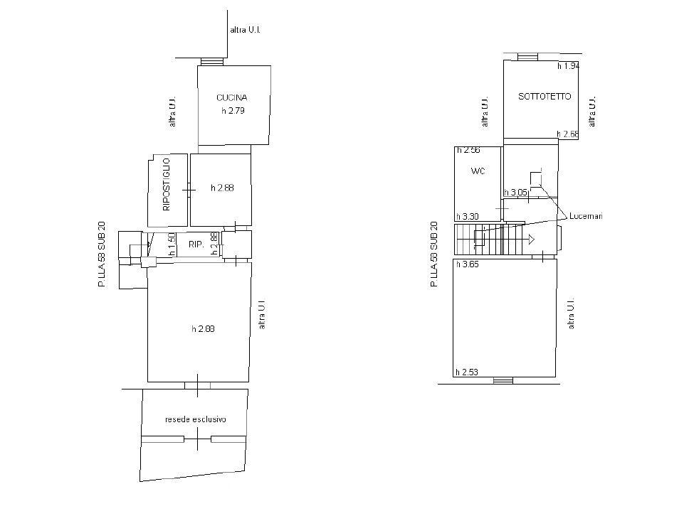 Planimetria 1/1 per rif. P190