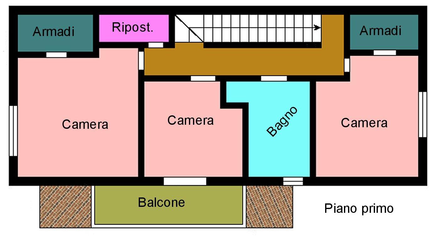 Villetta bifamiliare in vendita, rif. P400 (Planimetria 2/4)