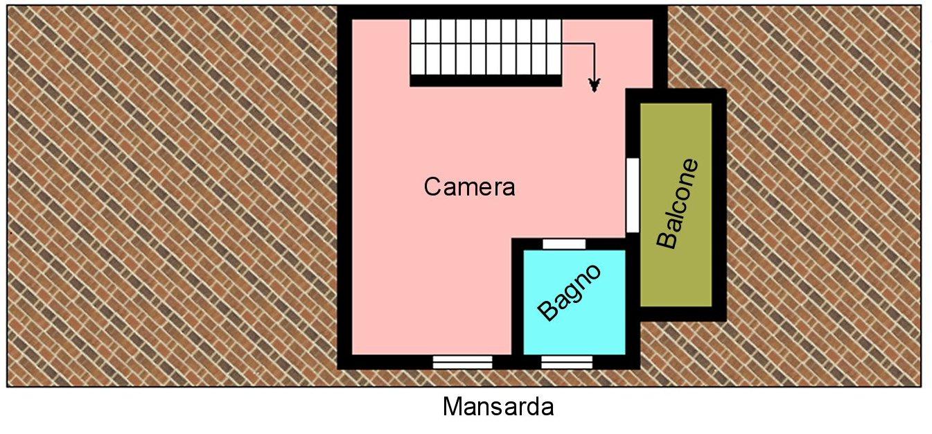 Villetta bifamiliare in vendita, rif. P400 (Planimetria 3/4)