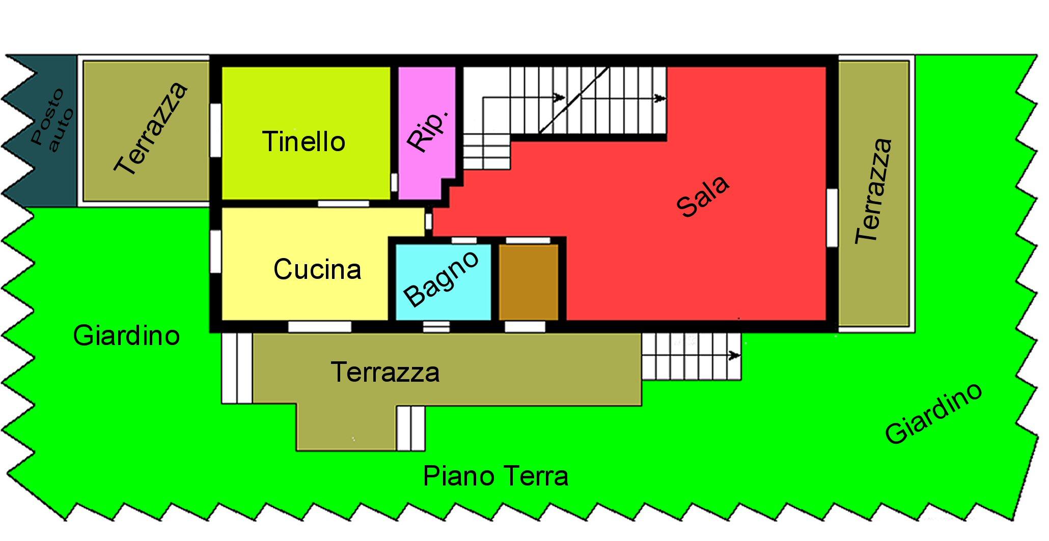 Villetta bifamiliare in vendita, rif. P400 (Planimetria 1/4)