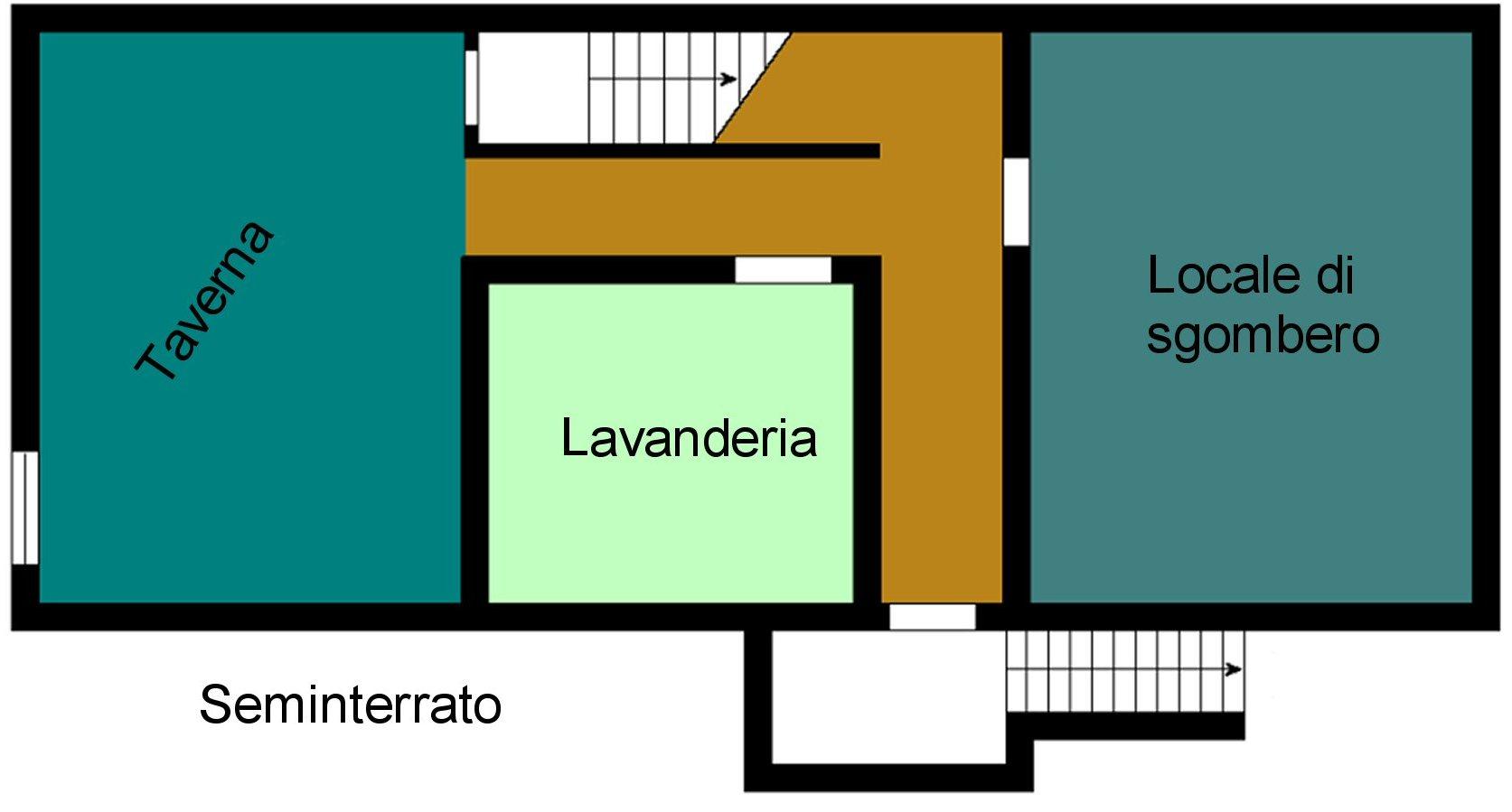 Villetta bifamiliare in vendita, rif. P400 (Planimetria 4/4)