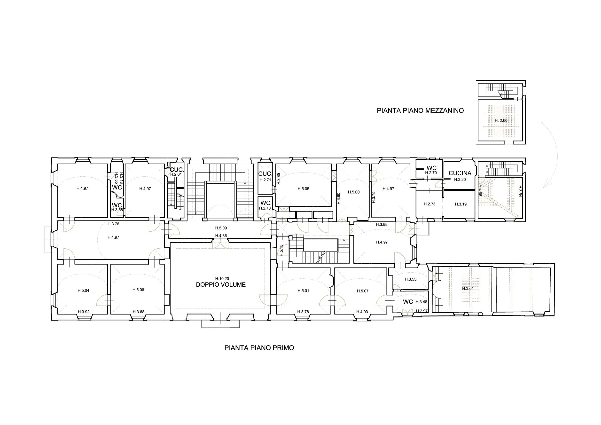 Planimetria 2/4 per rif. M005