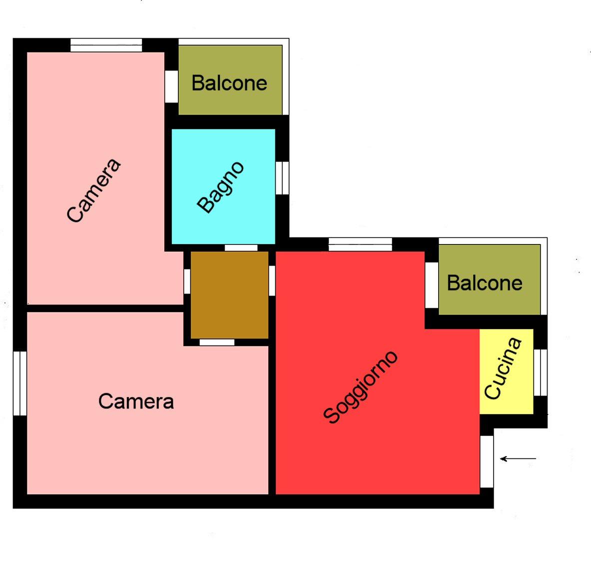 Planimetria 1/1 per rif. s129