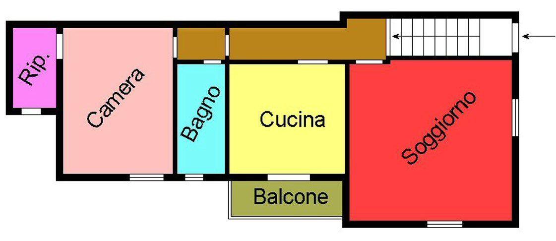 Planimetria 1/1 per rif. G170