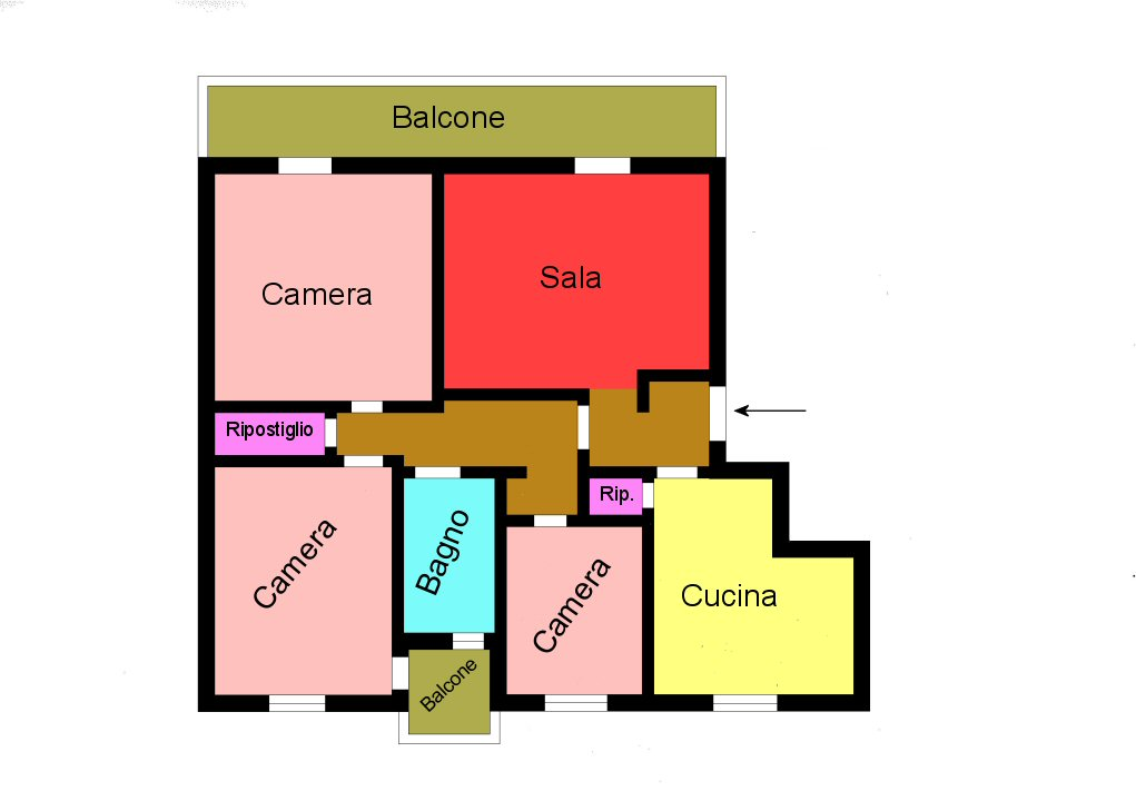 Planimetria 1/1 per rif. G259