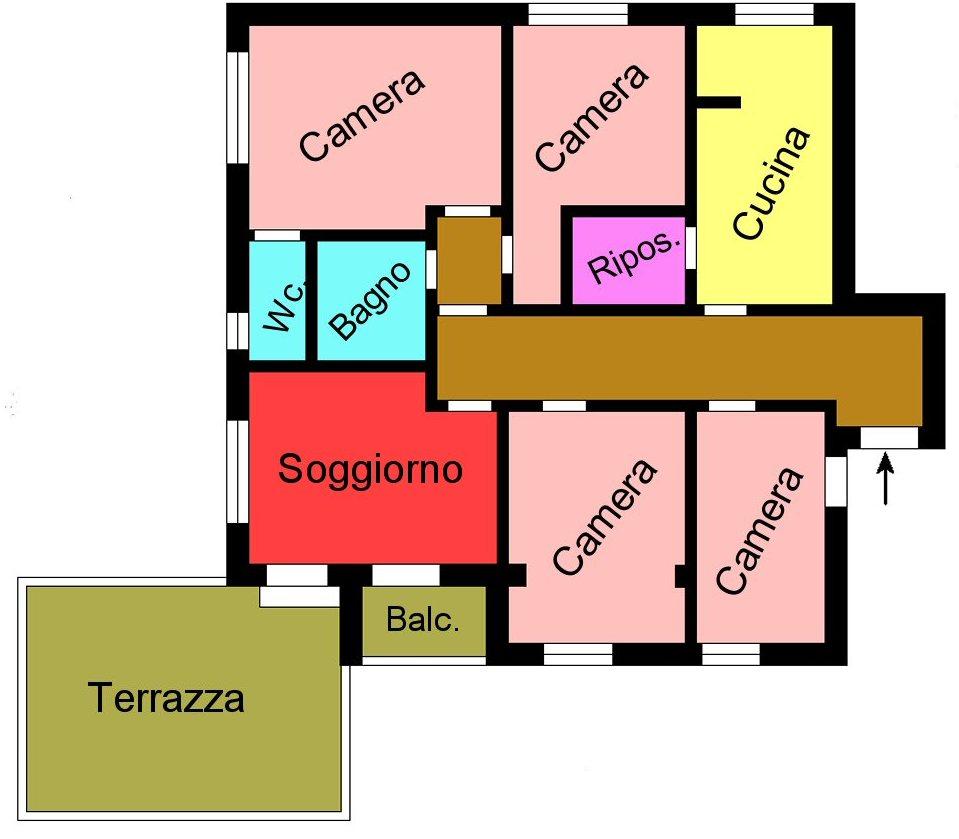 Planimetria 1/1 per rif. G410