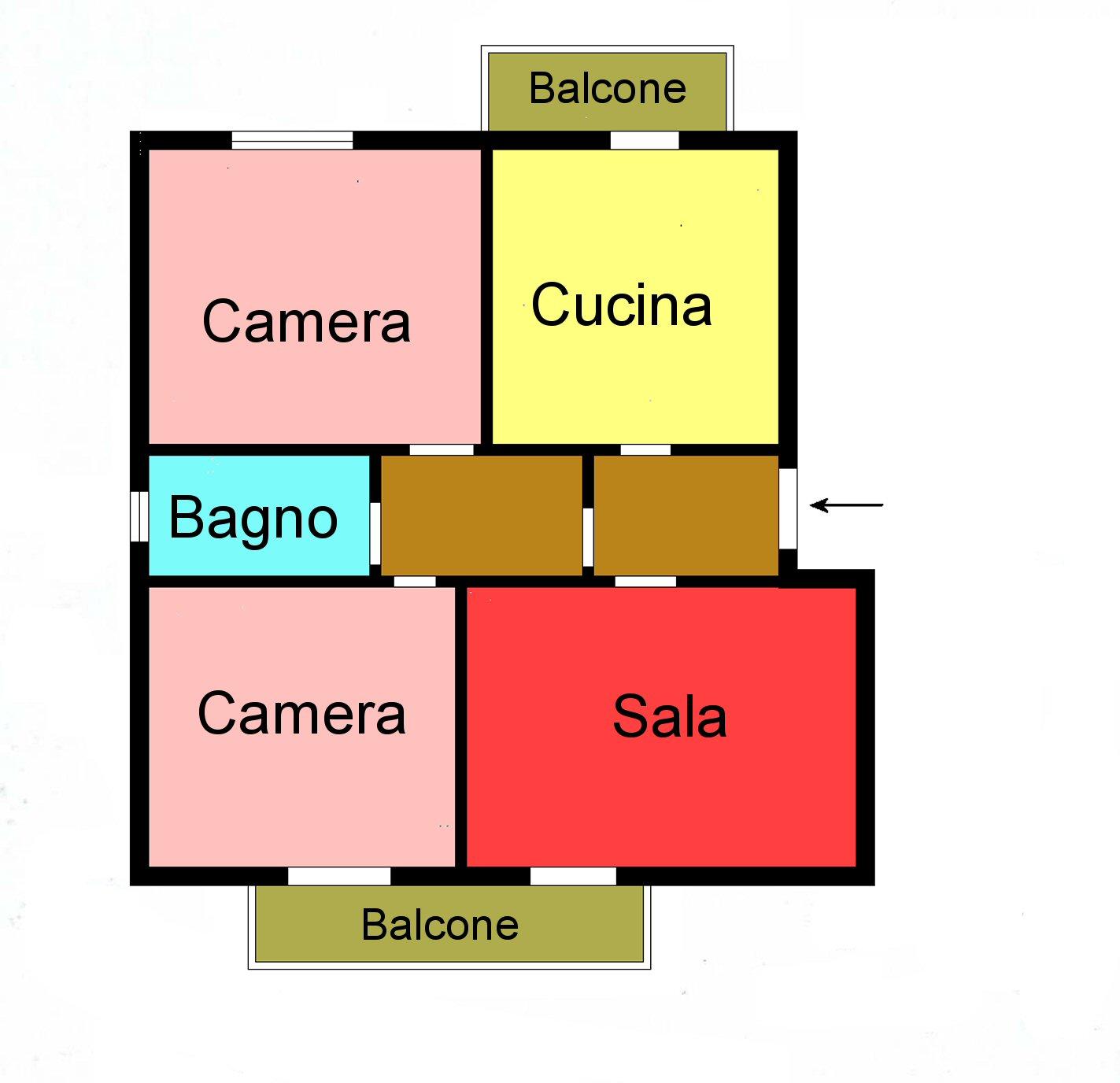 Planimetria 1/1 per rif. G223