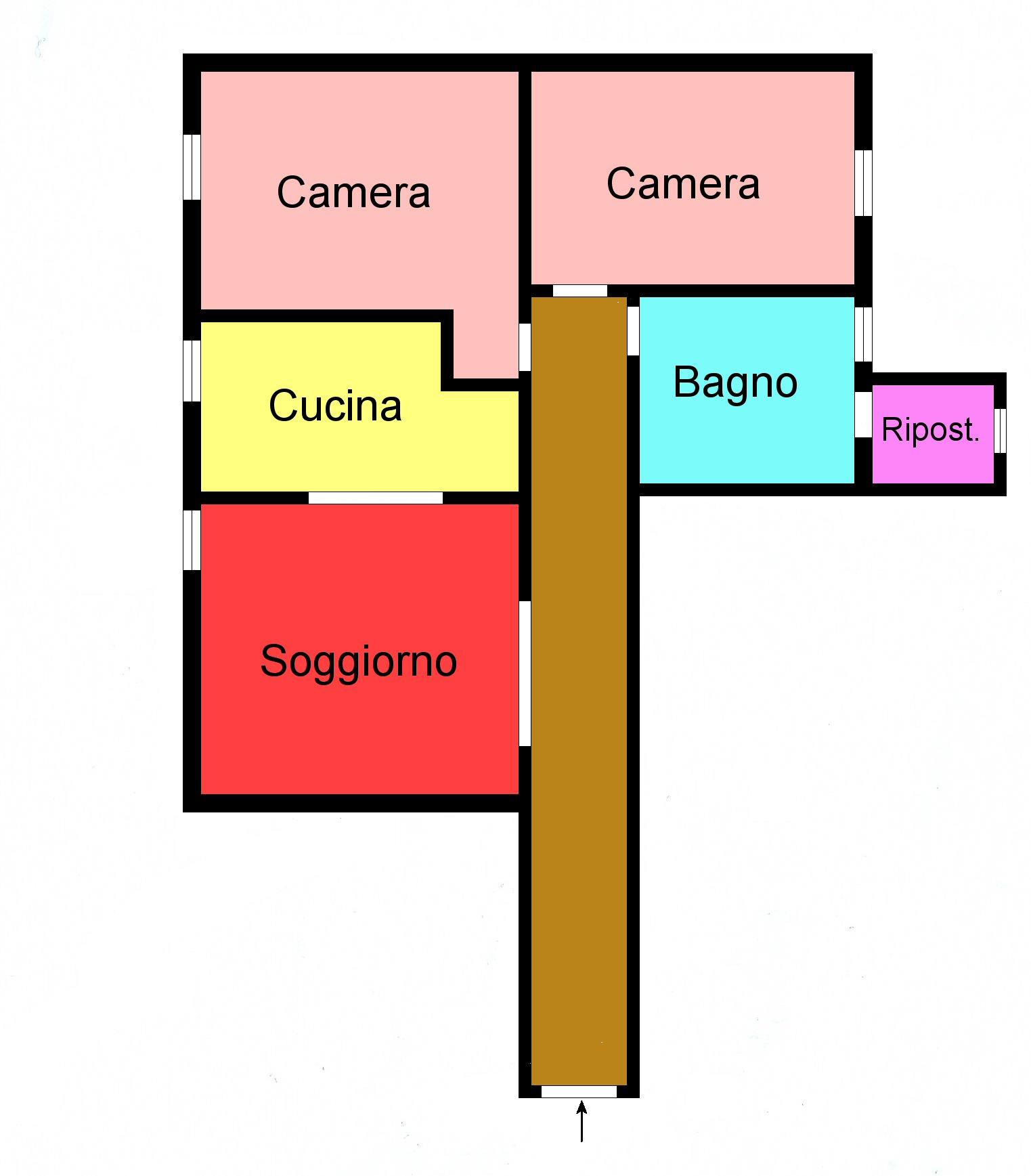 Planimetria 1/1 per rif. F169