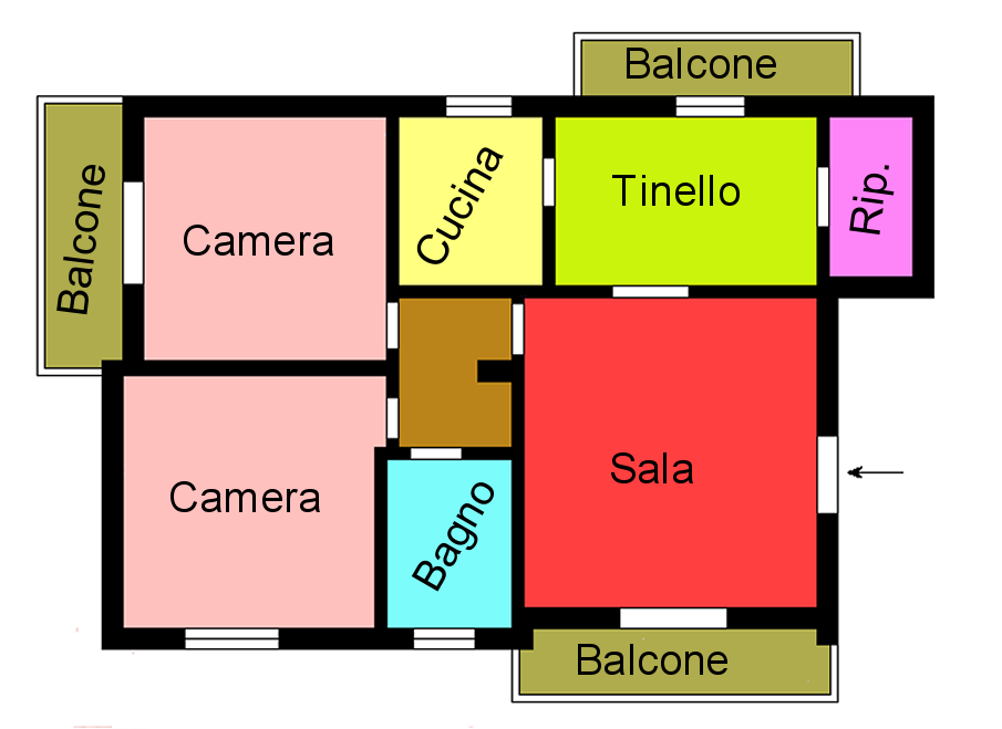 Planimetria 1/1 per rif. F160