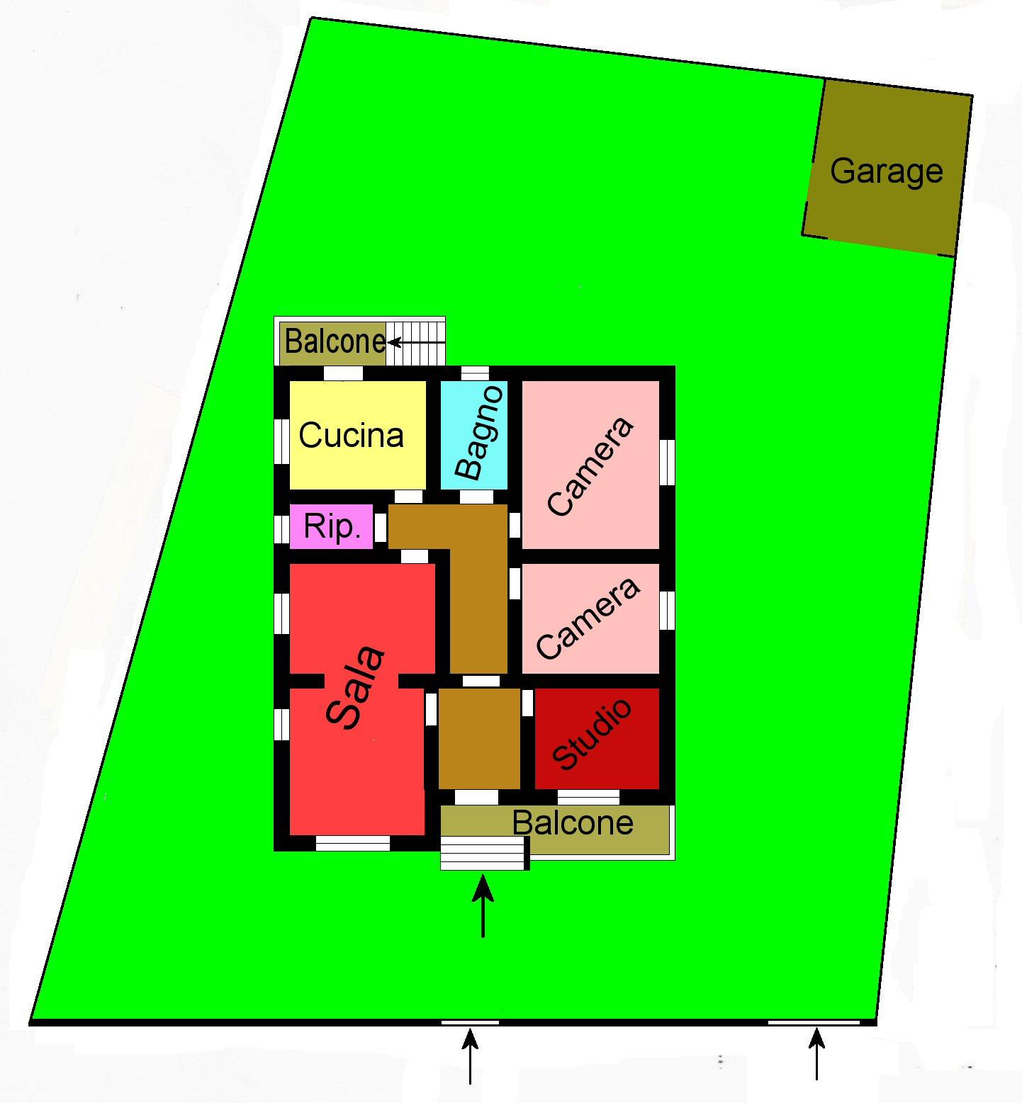 Planimetria 1/1 per rif. G390
