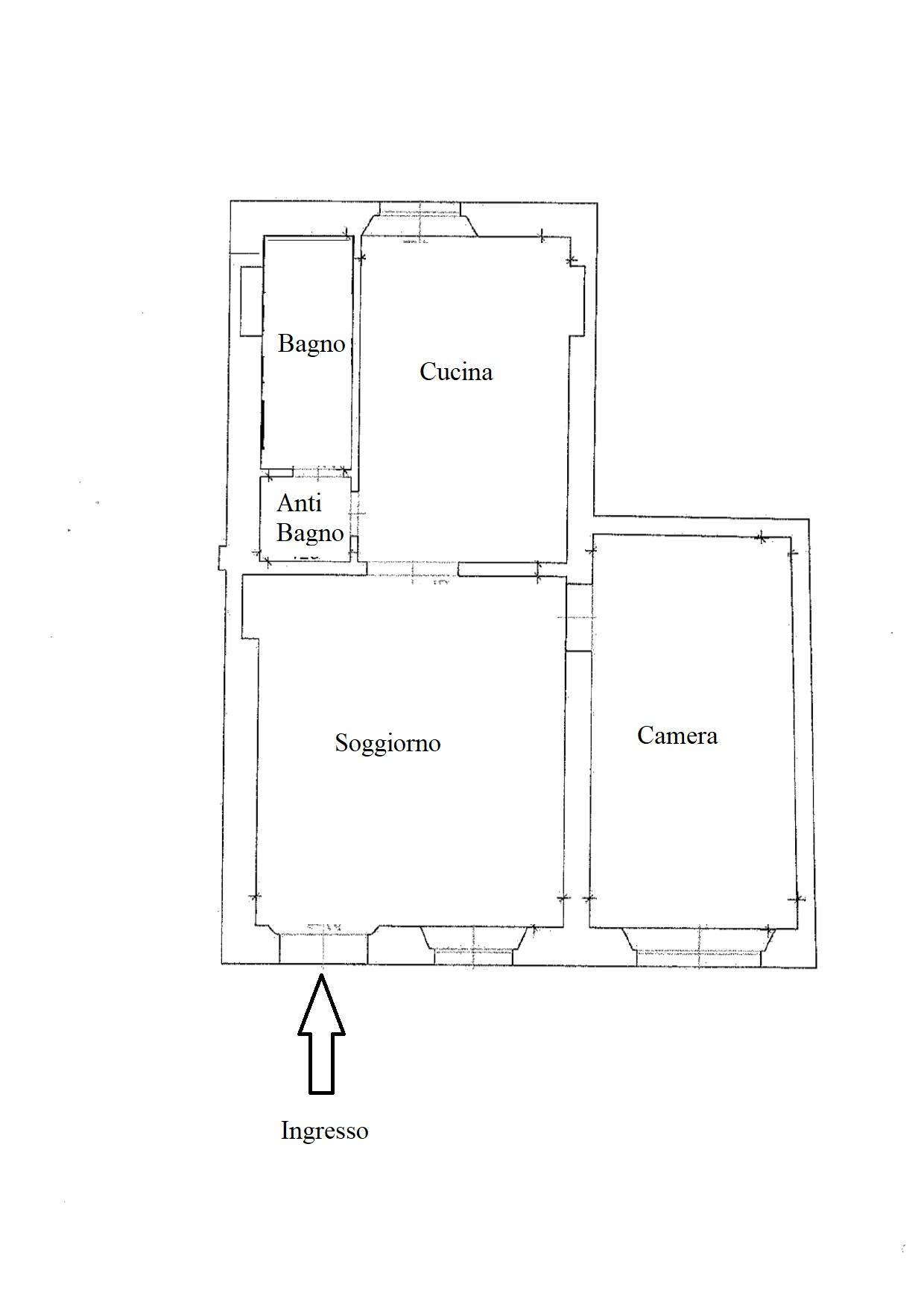 Planimetria 1/1 per rif. F100