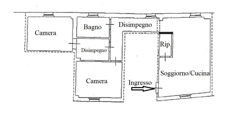 Planimetria 1/1 per rif. F135