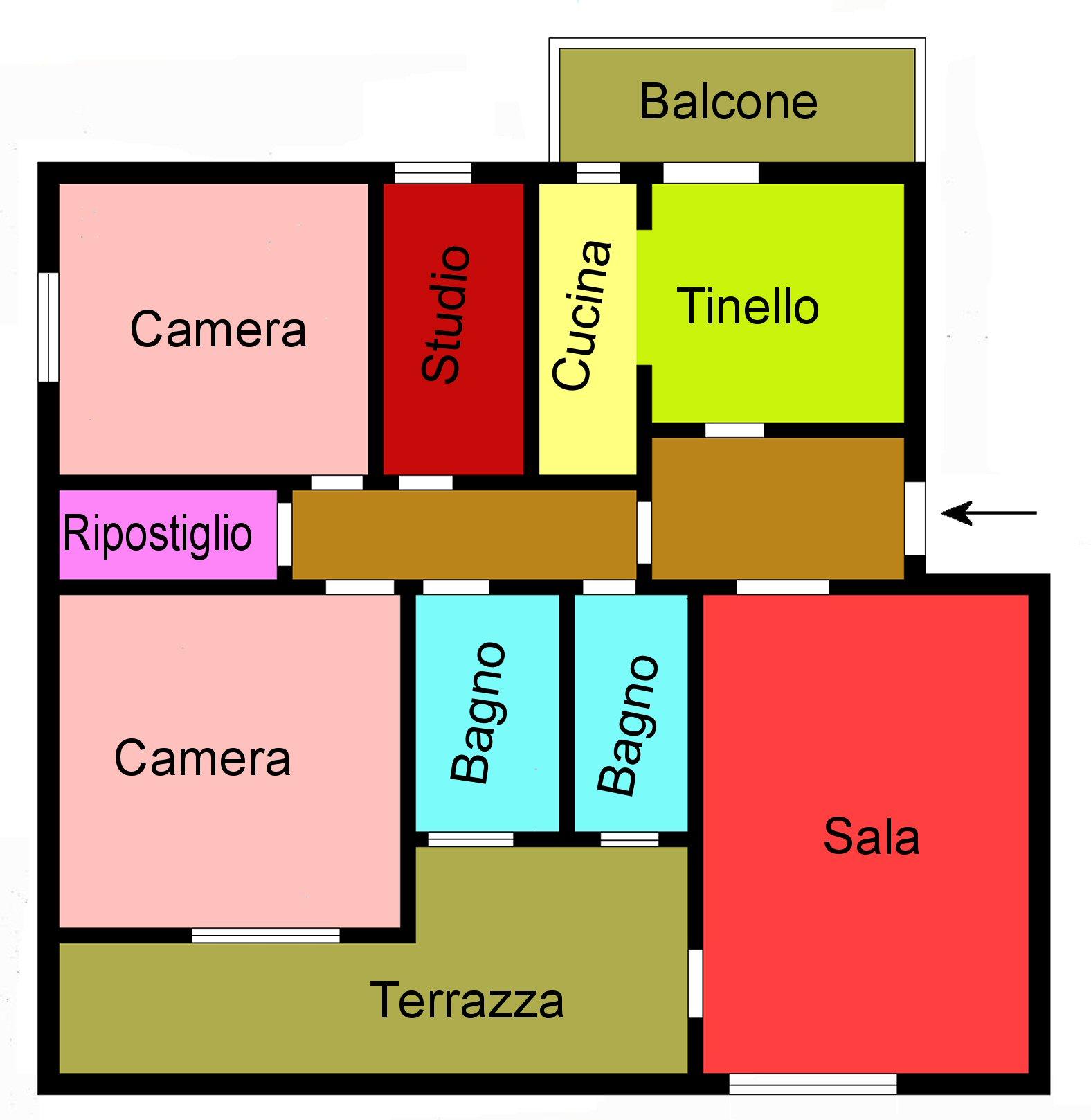 Planimetria 1/1 per rif. G281